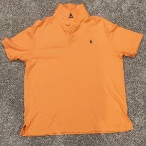 Large Polo Ralph Lauren classic fit orange polo